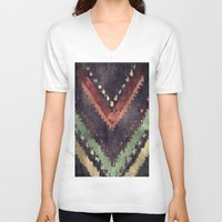lavender V-neck T-shirts featuring Lavender by munich