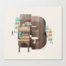 Resort Type - Letter B Canvas Print