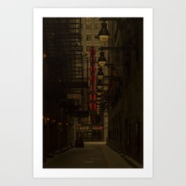 Old Goodman Theatre Sign from Alley Chicago Illinois Art Print