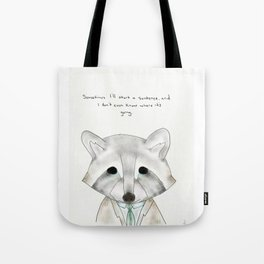 rusty racoon Tote Bag