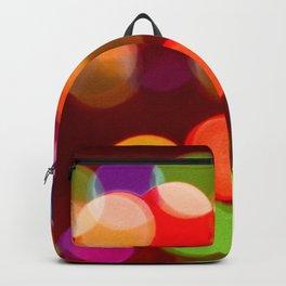 Retro Rainbow Bokeh Christmas Ligths Backpack