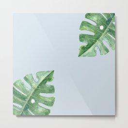 Blue Tropic Watercolor Metal Print