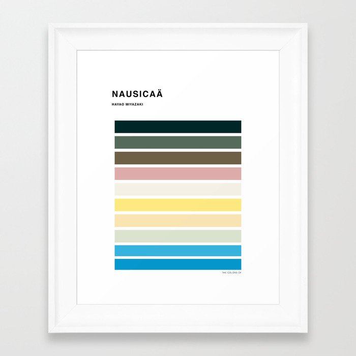 The colors of - Nausicaa Framed Art Print