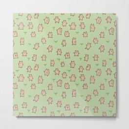Tiny Bears Pattern Metal Print