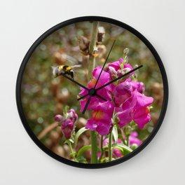 Bumblebee landing on Dragon skull Wall Clock
