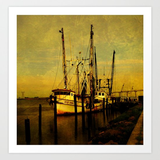 Rosa Marie is back in the Harbor Art Print