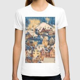 Rustic Winter Scene B T-shirt