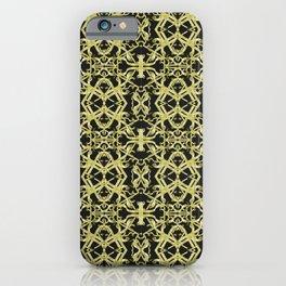 Golden Ornate Intricate Pattern iPhone Case