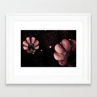lanterns Framed Art Prints featuring Lanterns by Sharon Wyer