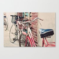 bicycles Canvas Prints featuring Bicycles by Yolanda Méndez