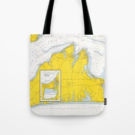 Vintage Map of Martha's Vineyard (1967) Tote Bag