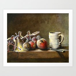 Still Life with Tiny Evil Ashes: After Chardin Art Print