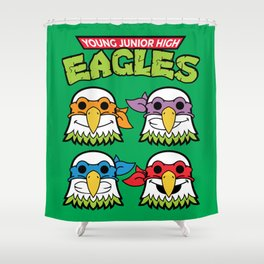 Old School Eagles Shower Curtain