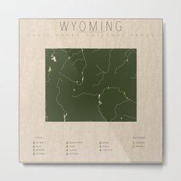 Wyoming Parks Metal Print