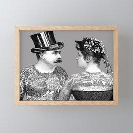 Tattooed Victorian Lovers Framed Mini Art Print