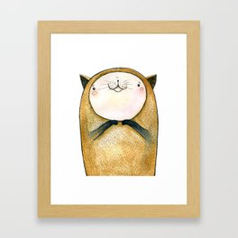 cutie cat Framed Art Print