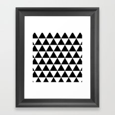 Triangles (Black/White) Framed Art Print