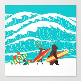 Summer Holiday Surfing Canvas Print