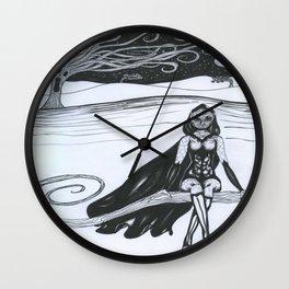 Bird Girl Wall Clock