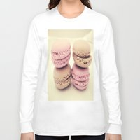macaroons Long Sleeve T-shirts featuring macaroons by  Alexia Miles photography