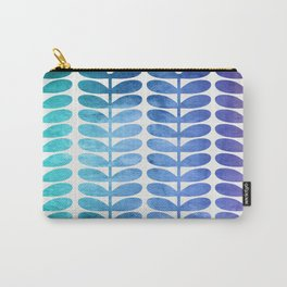 Colorful Leaves from Turquoise to Levender Carry-All Pouch