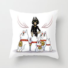 Woman Of Cats Throw Pillow