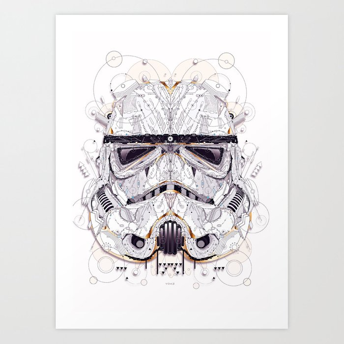 stormtrooper Art Print by yoaz | Society6