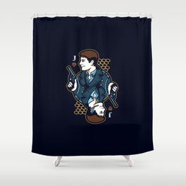 Captain Jack of Hearts Shower Curtain