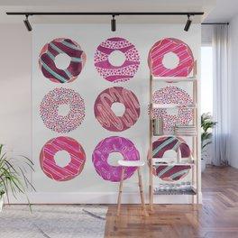 Half Dozen Donuts – Magenta Palette Wall Mural