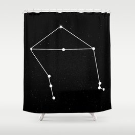 LIBRA (BLACK & WHITE) Shower Curtain