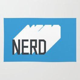 Retro Nerd Blue Rug