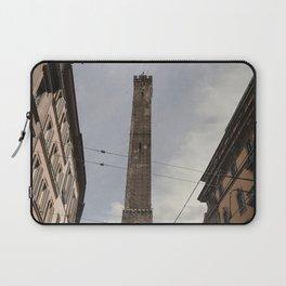 Two Towers, Bologna, Emilia Romagna, Italy, street photography, Torre degli Asinelli, italian city Laptop Sleeve