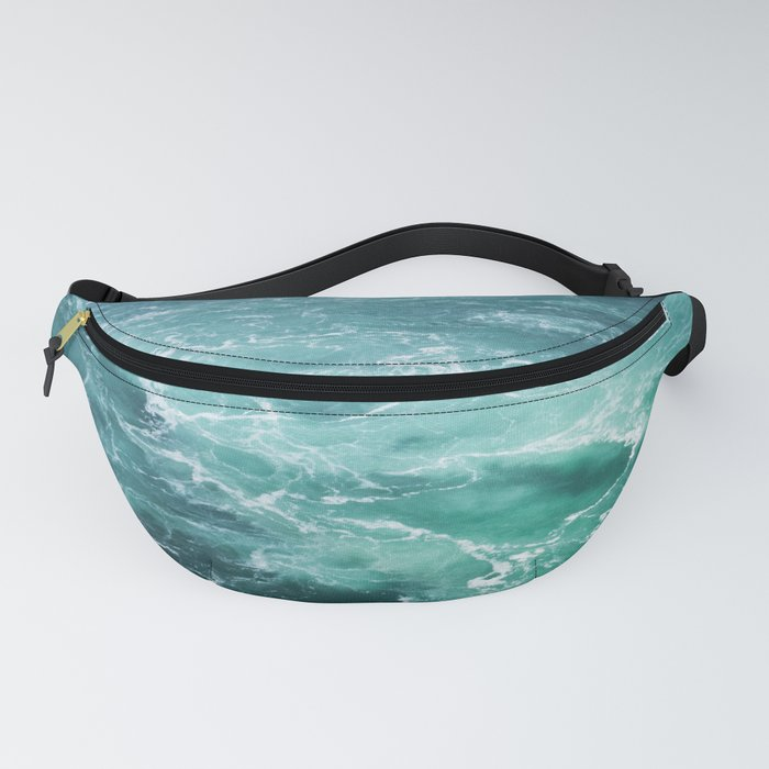 Sea Waves | Seascape Photography | Water | Ocean | Beach | Aerial Photography Fanny Pack