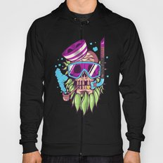 Snorkeling Skull Illustration Hoody
