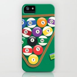 Billiard Balls Rack - Boules de billard iPhone Case
