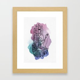 palmistry map Framed Art Print