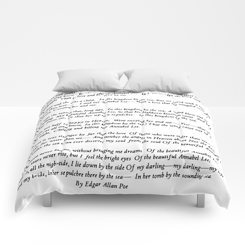 Annabel Lee Edgar Allan Poe Classic Poem Comforters By