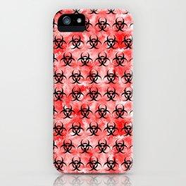 Red Biohazard iPhone Case