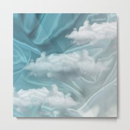 """Blue pastel sweet heaven and clouds"" Metal Print"