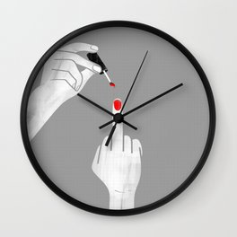 F*** Nail Polish Wall Clock