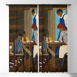 African American Masterpiece 'Giving Thanks' by Horace Pippin Blackout Curtain