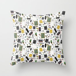Printmaker's Supplies - Clear Throw Pillow