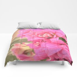 peach colored flower Comforters