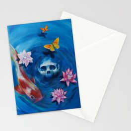deep in the water Stationery Cards