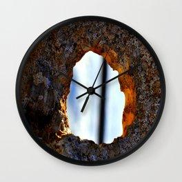 stone with hole Wall Clock