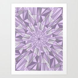 Purple Burst Art Print