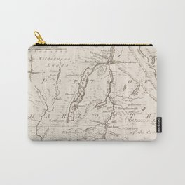 Vintage British Map of Lake George Area Carry-All Pouch
