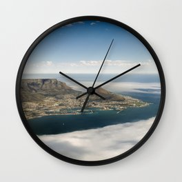 Aerial View of Cape Town, South Africa Wall Clock
