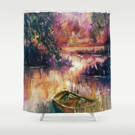 Lakeside dream Shower Curtain