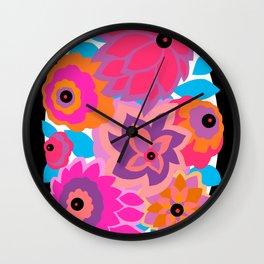 CAMBRIA, ART DECO FLORALS: HANALEI BAY Wall Clock